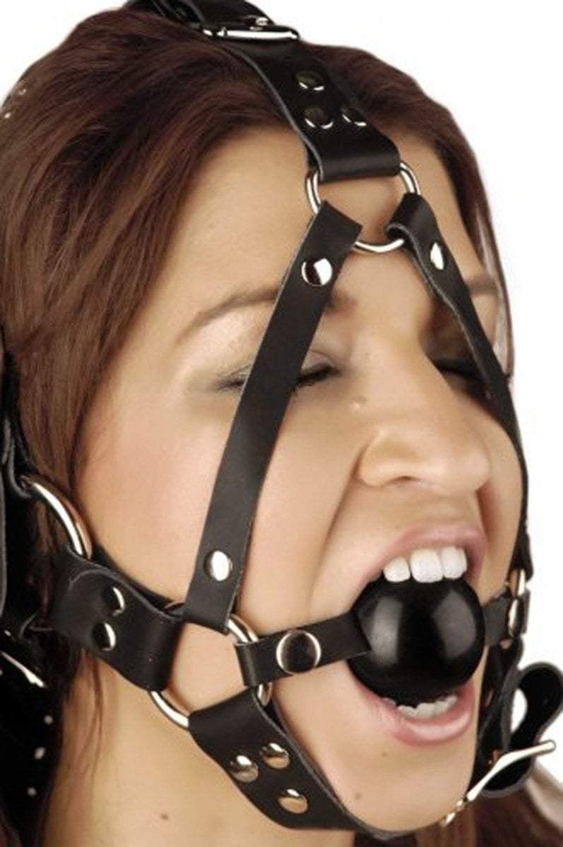 Strict Leather Gag Leather Ball Gag Harness