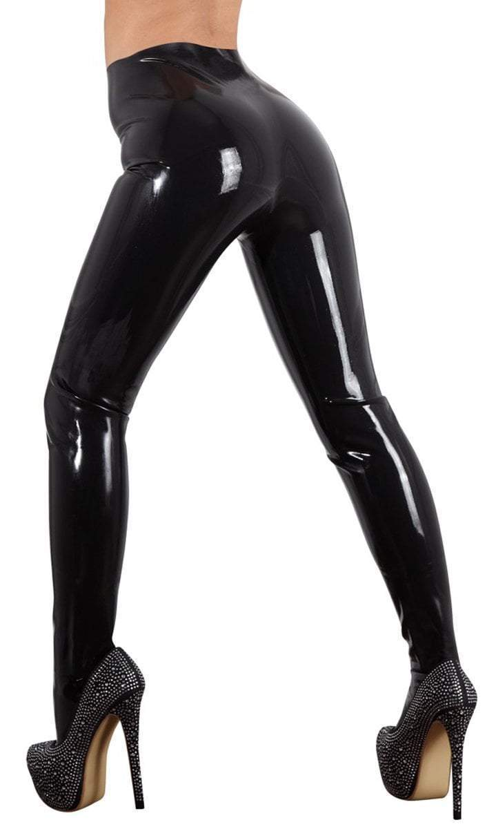 The Latex Collection Latex Clothing Small / Black Black Latex Tights