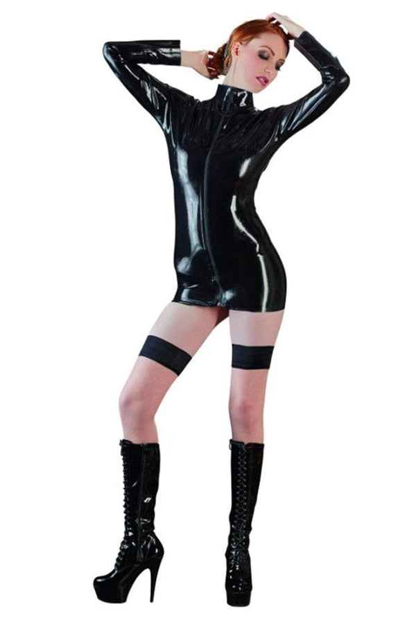 The Latex Collection Latex Clothing Small / Black Black Long Sleeve Latex Shirt