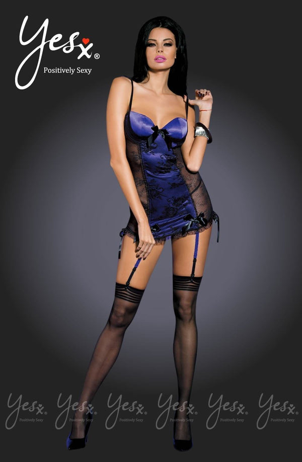 Yesx YX650 Chemise Set With Stockings - Divas Closet