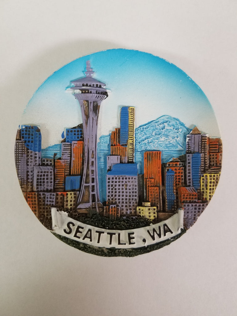 Seattle Souvenir Skyline with Mt. Rainier Magnet - Cities & States, Collectibles, General Gift, Home & Garden, Kitchen Magnets, Magnets-Refrigerator, PS-Party Favors, Seattle, Top-GNRL-B