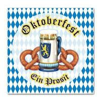 Oktoberfest Decorations: Luncheon Napkins - Bayern, German, Germany, Oktoberfest, PS- Oktoberfest Decorations, PS- Oktoberfest Essentials-All OKT Items, PS- Oktoberfest Table Decor, PS-Party Supplies, Tableware, Top-OFST-A