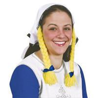Oktoberfest Costume: Headscarf w/braids - Apparel, German, Germany, Hats- Braids, Oktoberfest, PS-Party Supplies