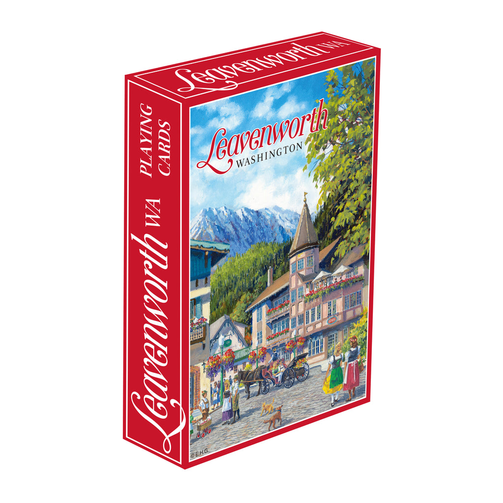C705: PLAYING CARDS: LEAVENWORTH, W