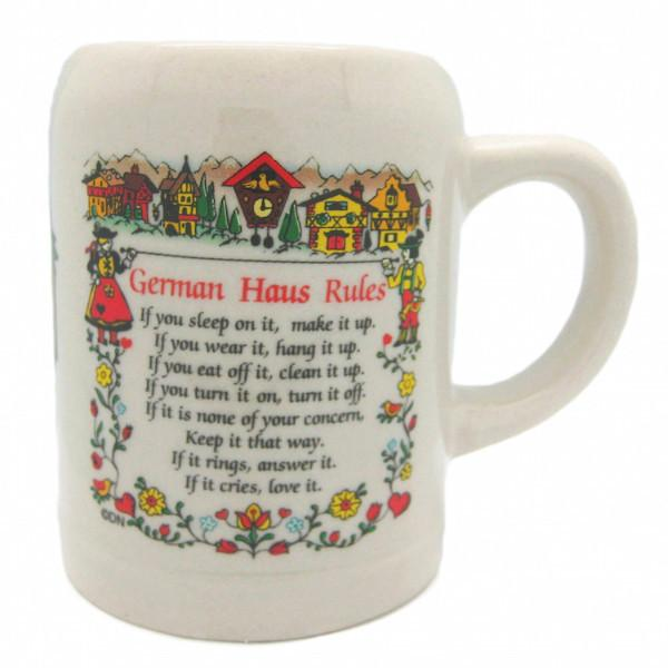 German Coffee Mug with  inchesGerman Haus Rules inches - Coffee Mugs, Coffee Mugs-German, Coffee Mugs-Stoneware, CT-500, Drinkware, Dutch, German, Germany, Home & Garden, Oma, opa, SY: House Rules-German, Tableware, Top-GRMN-B
