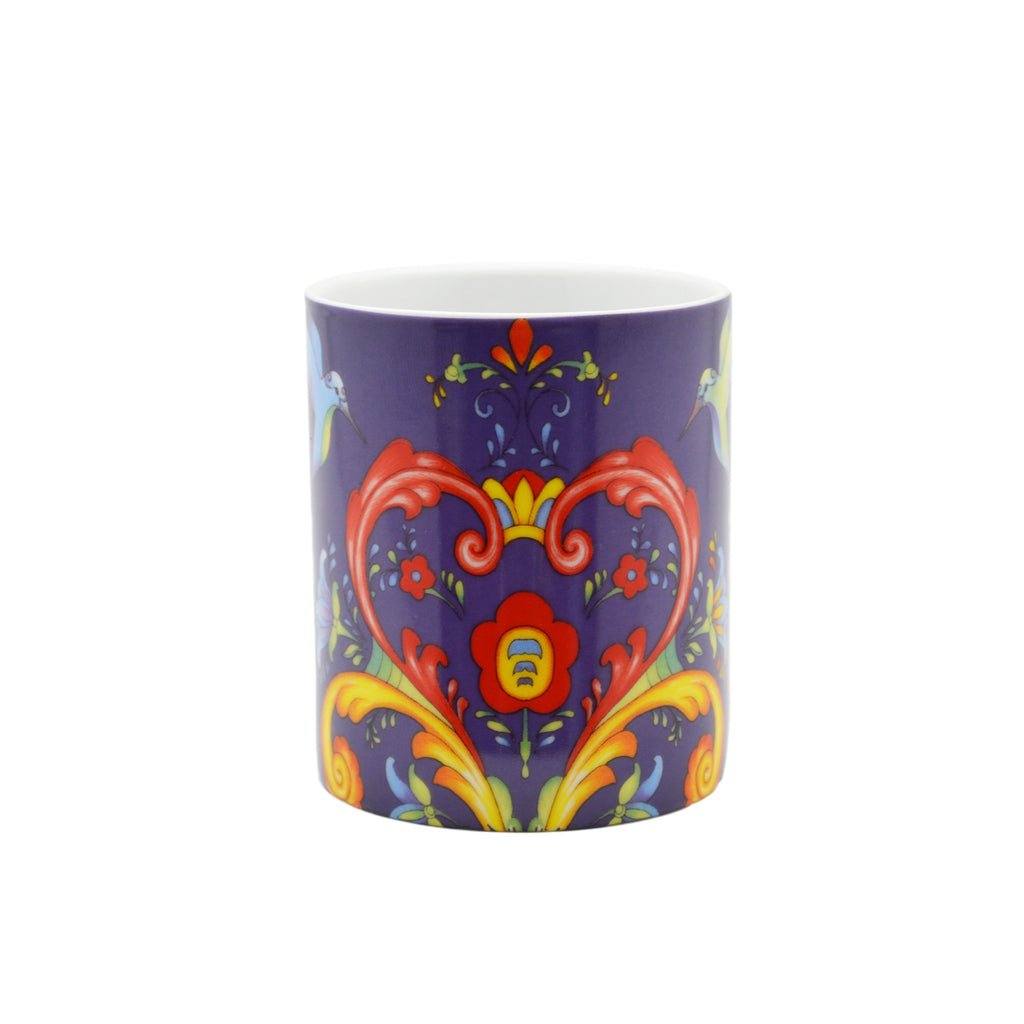 Ceramic Coffee Mug Blue Rosemaling - Coffee Mugs, Coffee Mugs-German, Coffee Mugs-Swedish, CT-500, European, New Products, NP Upload, Rosemaling, Scandinavian, Under $10, Yr-2015 - 2 - 3