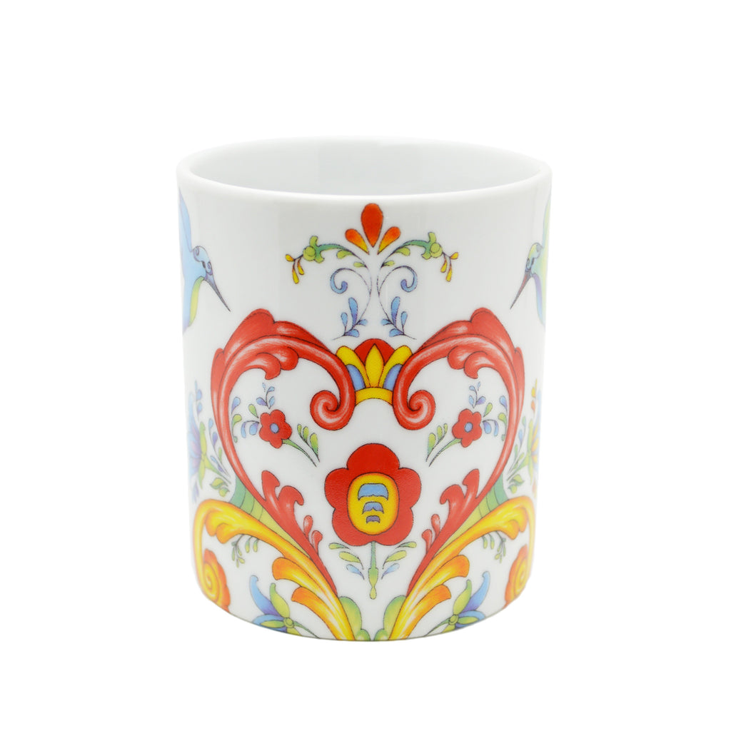 Ceramic Coffee Mug Colorful Rosemaling - Coffee Mugs, Coffee Mugs-German, Coffee Mugs-Swedish, CT-500, European, New Products, NP Upload, Rosemaling, Scandinavian, Top-SWED-A, Under $10, Yr-2015 - 2