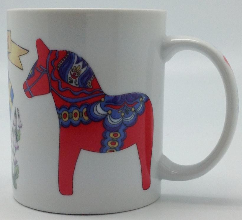 Swedish Gift Shop 3 Graphic Coffee Mug - Below $10, Coffee Mugs, Coffee Mugs-Swedish, CT-150, Dala Horse, Drinkware, Heart, Home & Garden, Swedish, SY: I Love Sweden, Tableware, Top-SWED-A - 2