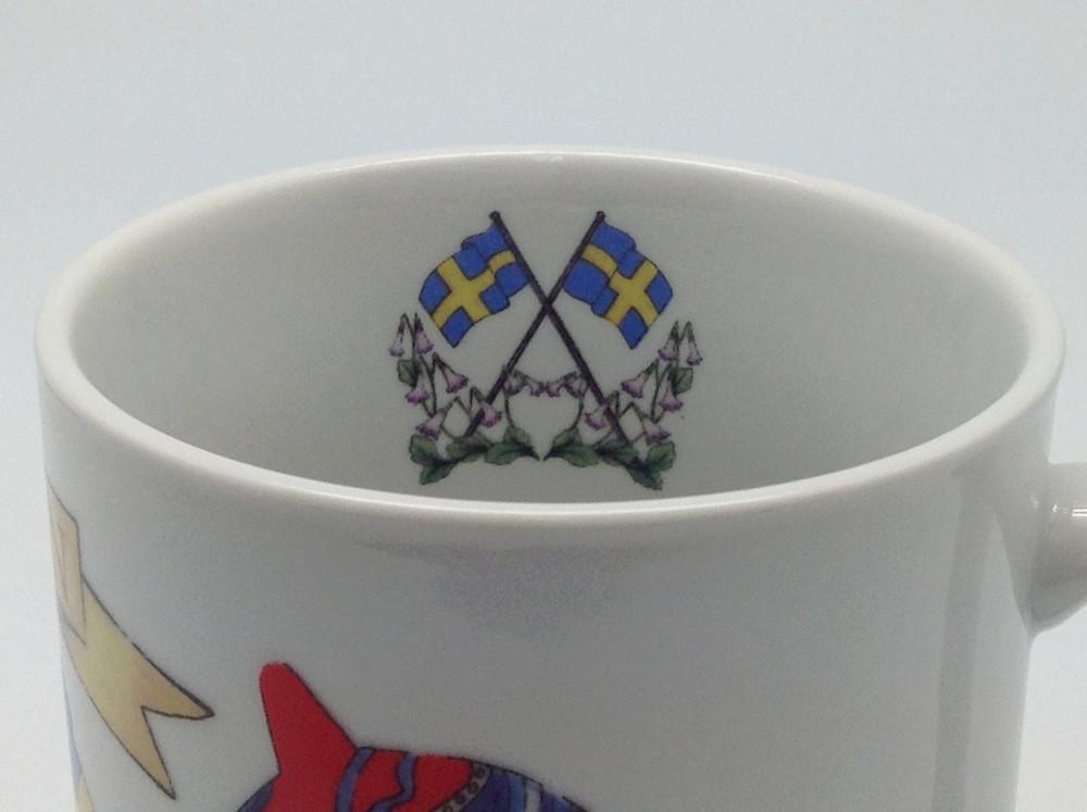 Swedish Gift Shop 3 Graphic Coffee Mug - Below $10, Coffee Mugs, Coffee Mugs-Swedish, CT-150, Dala Horse, Drinkware, Heart, Home & Garden, Swedish, SY: I Love Sweden, Tableware, Top-SWED-A - 2 - 3 - 4 - 5