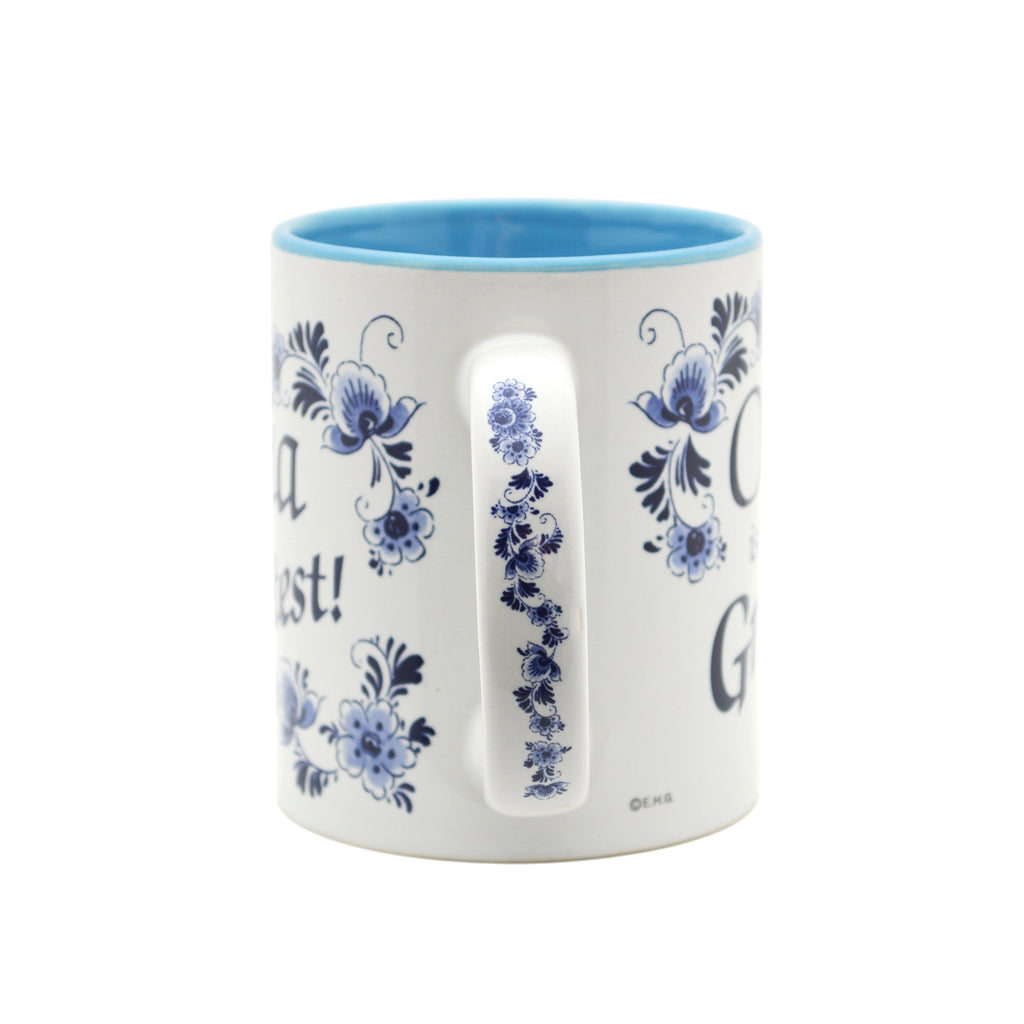 inchesOma is the Greatest inches German Blue Ceramic Coffee Mug - Coffee Mugs, Coffee Mugs-Dutch, Coffee Mugs-German, CT-500, New Products, NP Upload, Oma, Oma & Opa, SY:, SY: Oma House Rules, Under $10, Yr-2016 - 2
