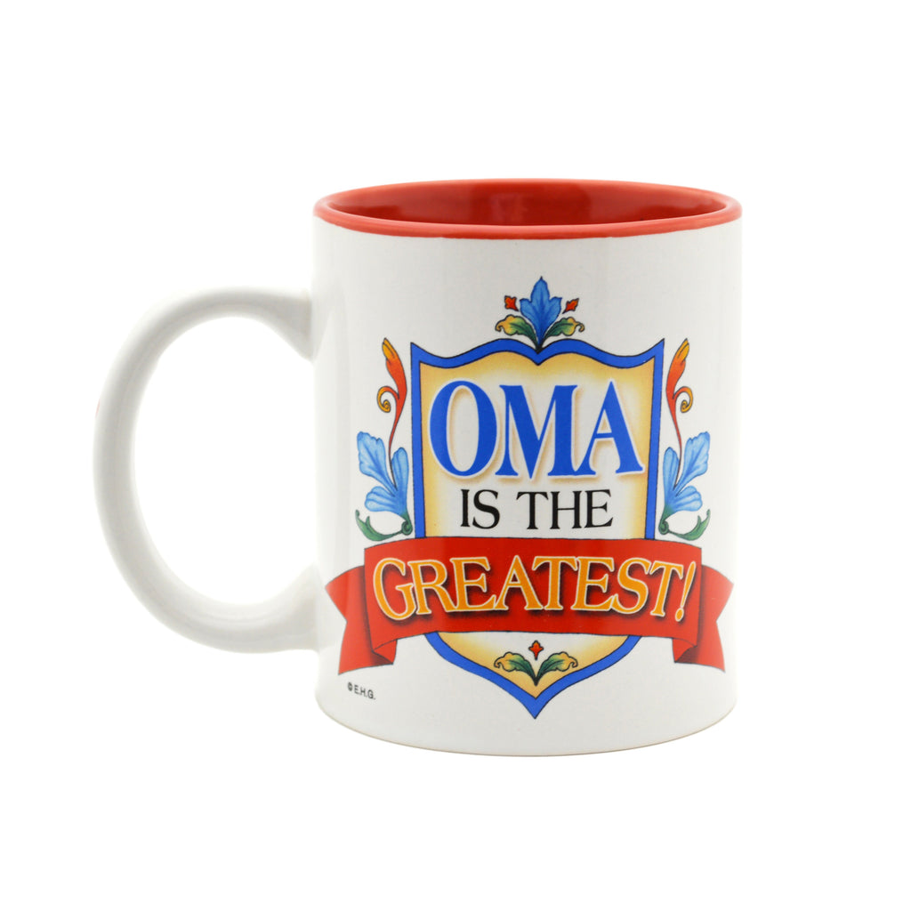German Gift Idea Mug  inchesOma is the Greatest inches - Coffee Mugs, Coffee Mugs-Dutch, Coffee Mugs-German, CT-100, CT-102, CT-500, New Products, NP Upload, Oma, Oma & Opa, SY:, SY: Oma Greatest, SY: Oma is the Greatest, Under $10, Yr-2016 - 2 - 3