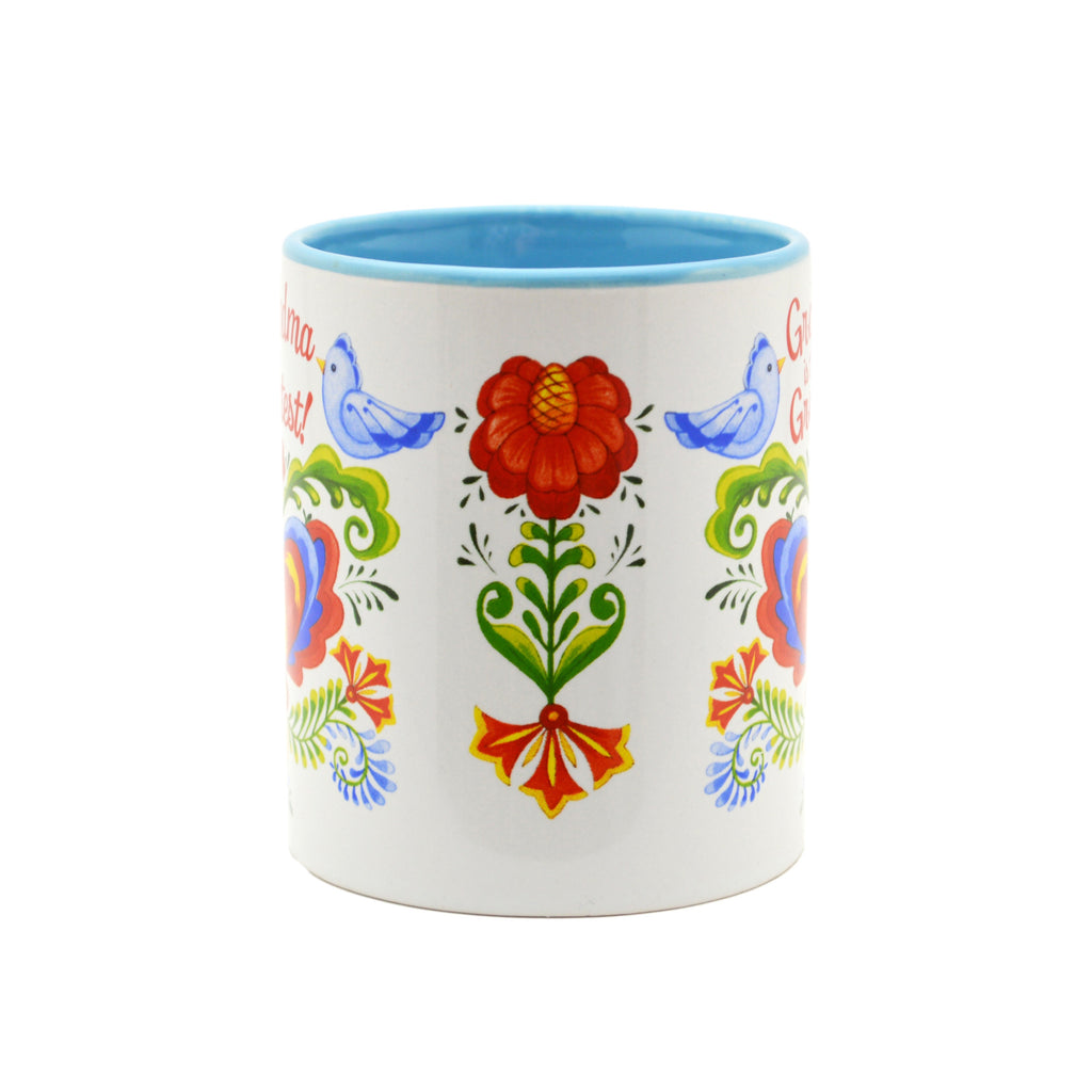 Ceramic Coffee Mug  inchesGrandma is the Greatest inches - Coffee Mugs, CT-100, CT-101, CT-102, Grandma, New Products, NP Upload, Rosemaling, SY:, SY: Grandma Greatest, Under $10, Yr-2016 - 2