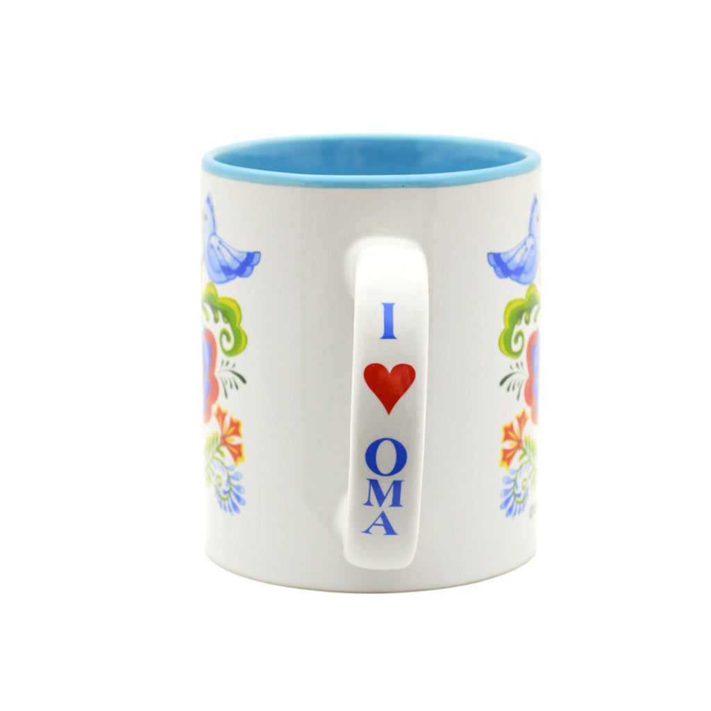 """Oma is the Greatest"" Bird Design Ceramic Coffee Mug - 2 - GermanGiftOutlet.com"