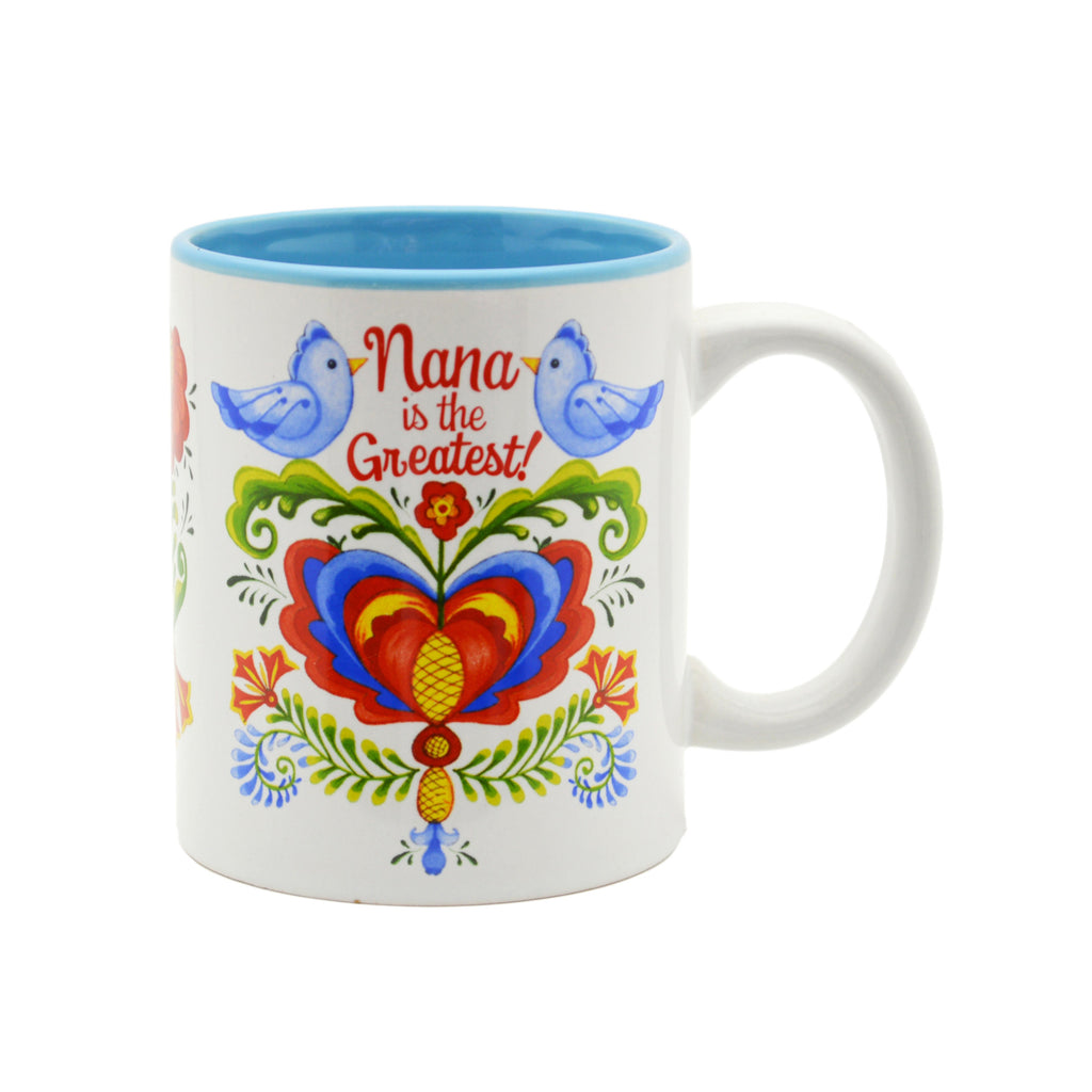Ceramic Coffee Mug  inchesNana is the Greatest inches - Coffee Mugs, CT-100, CT-101, Nana, New Products, NP Upload, Rosemaling, SY:, SY: Nana Greatest, Under $10, Yr-2016