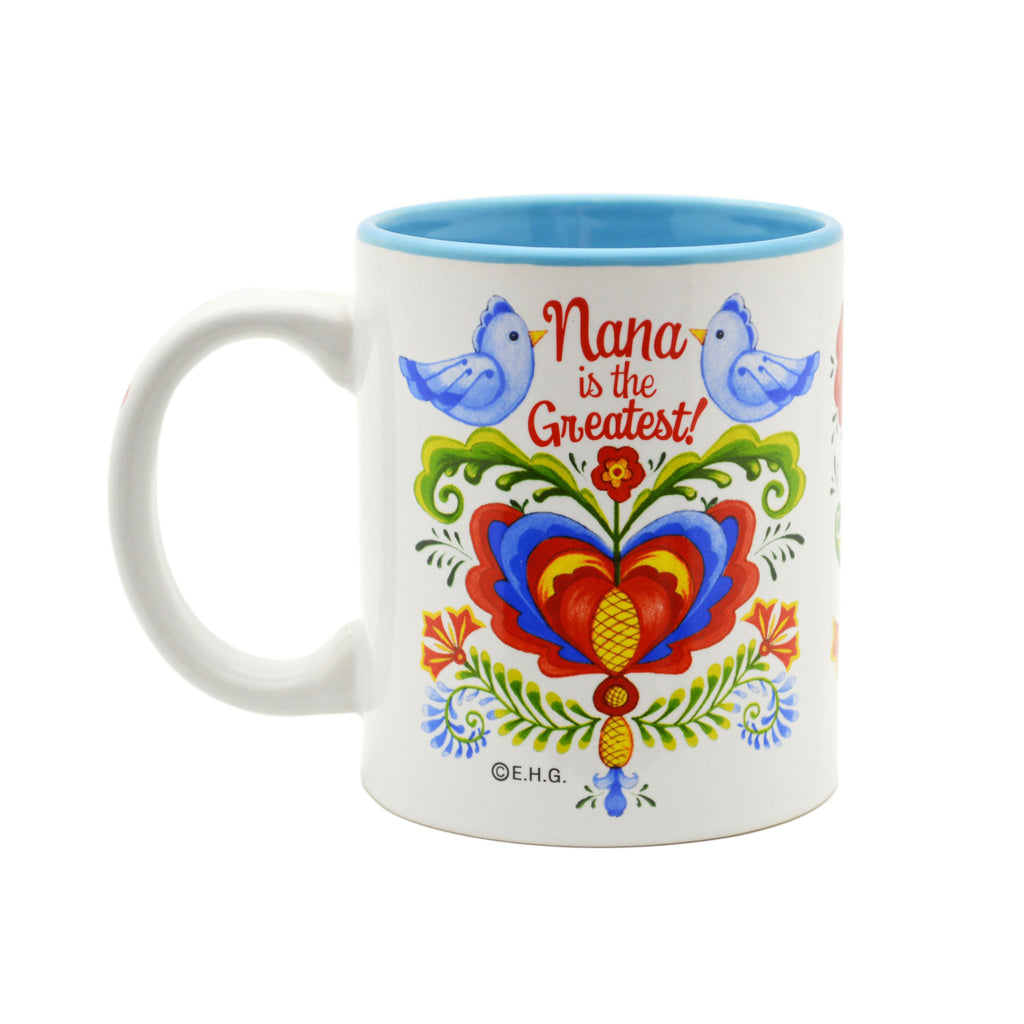 Ceramic Coffee Mug  inchesNana is the Greatest inches - Coffee Mugs, CT-100, CT-101, Nana, New Products, NP Upload, Rosemaling, SY:, SY: Nana Greatest, Under $10, Yr-2016 - 2 - 3 - 4