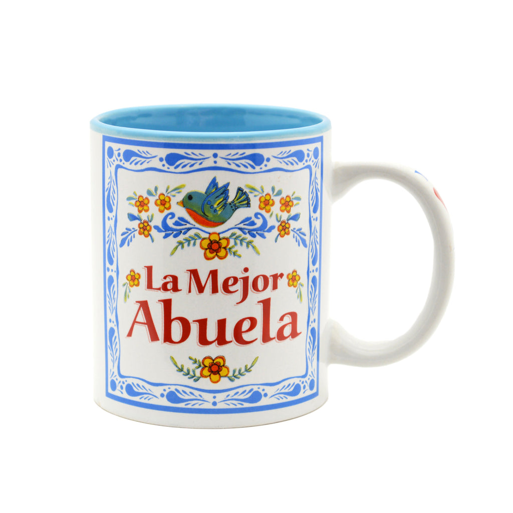 Ceramic Coffee Mug  inchesLa Mejor Abuela inches - Abuela, Coffee Mugs, CT-100, Latino, New Products, NP Upload, Spanish, SY:, SY: Mejor Abuela, Under $10, Yr-2016