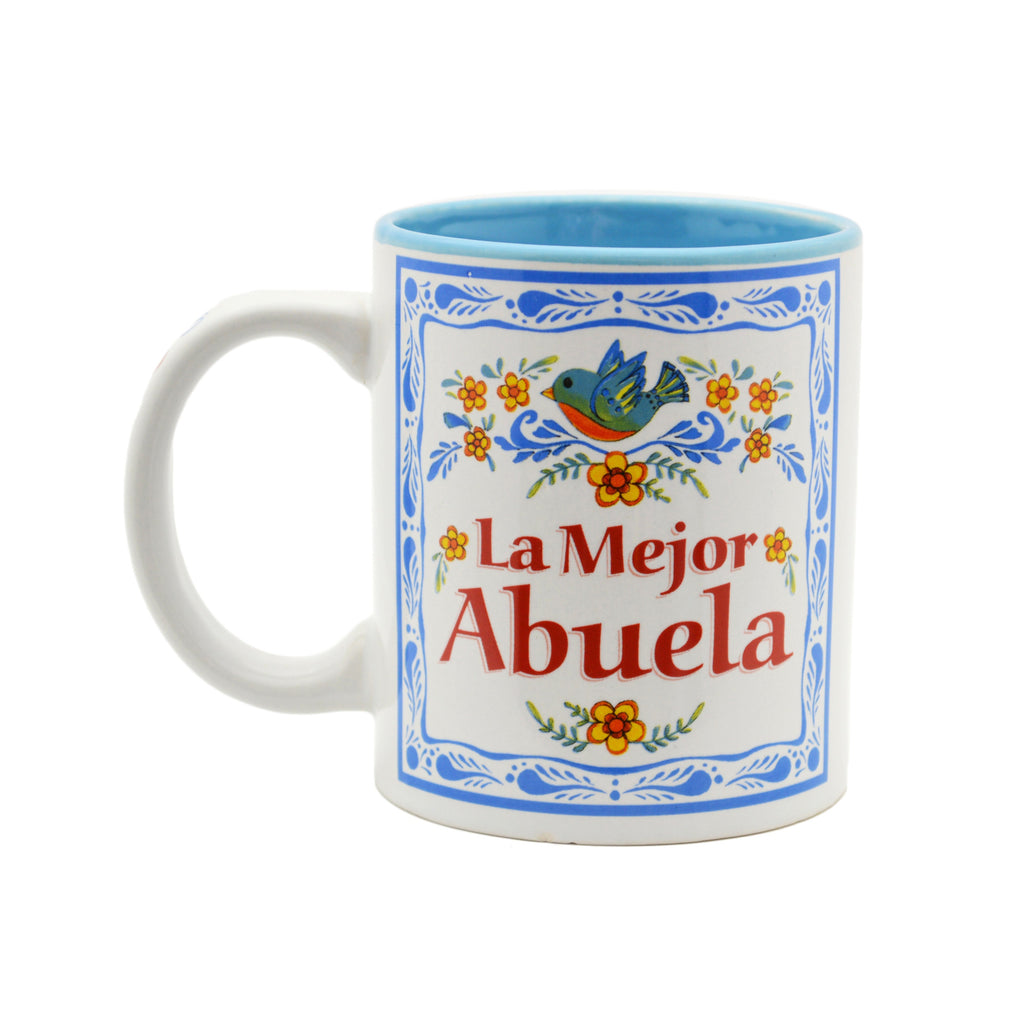 Ceramic Coffee Mug  inchesLa Mejor Abuela inches - Abuela, Coffee Mugs, CT-100, Latino, New Products, NP Upload, Spanish, SY:, SY: Mejor Abuela, Under $10, Yr-2016 - 2 - 3 - 4
