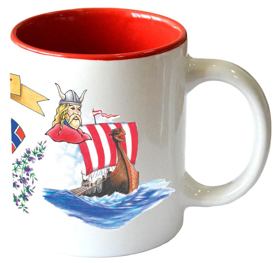 Gift for Norwegian Coffee Mug  inchesI Love Norway inches - Ceramics, Coffee Mugs, Coffee Mugs-Norwegian, New Products, Norwegian, NP Upload, PS-Party Favors Norsk, SY: I Love Norway, Tableware, Under $10, Yr-2017