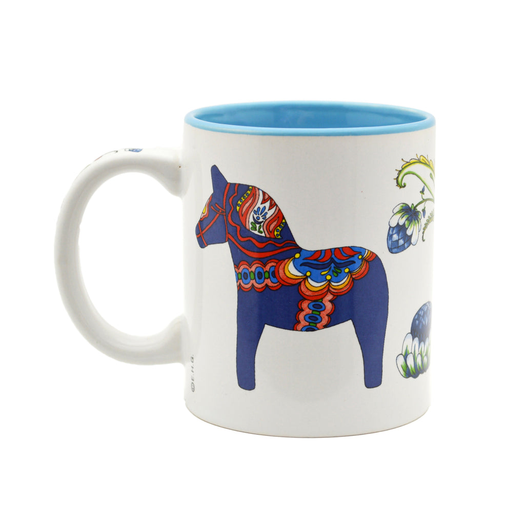 Ceramic Coffee Mug Red Dala Horse - Coffee Mugs, Coffee Mugs-Swedish, Dala Horse, Dala Horse Red, New Products, NP Upload, PS-Party Favors Swedish, Swedish, Under $10, Yr-2016 - 2 - 3