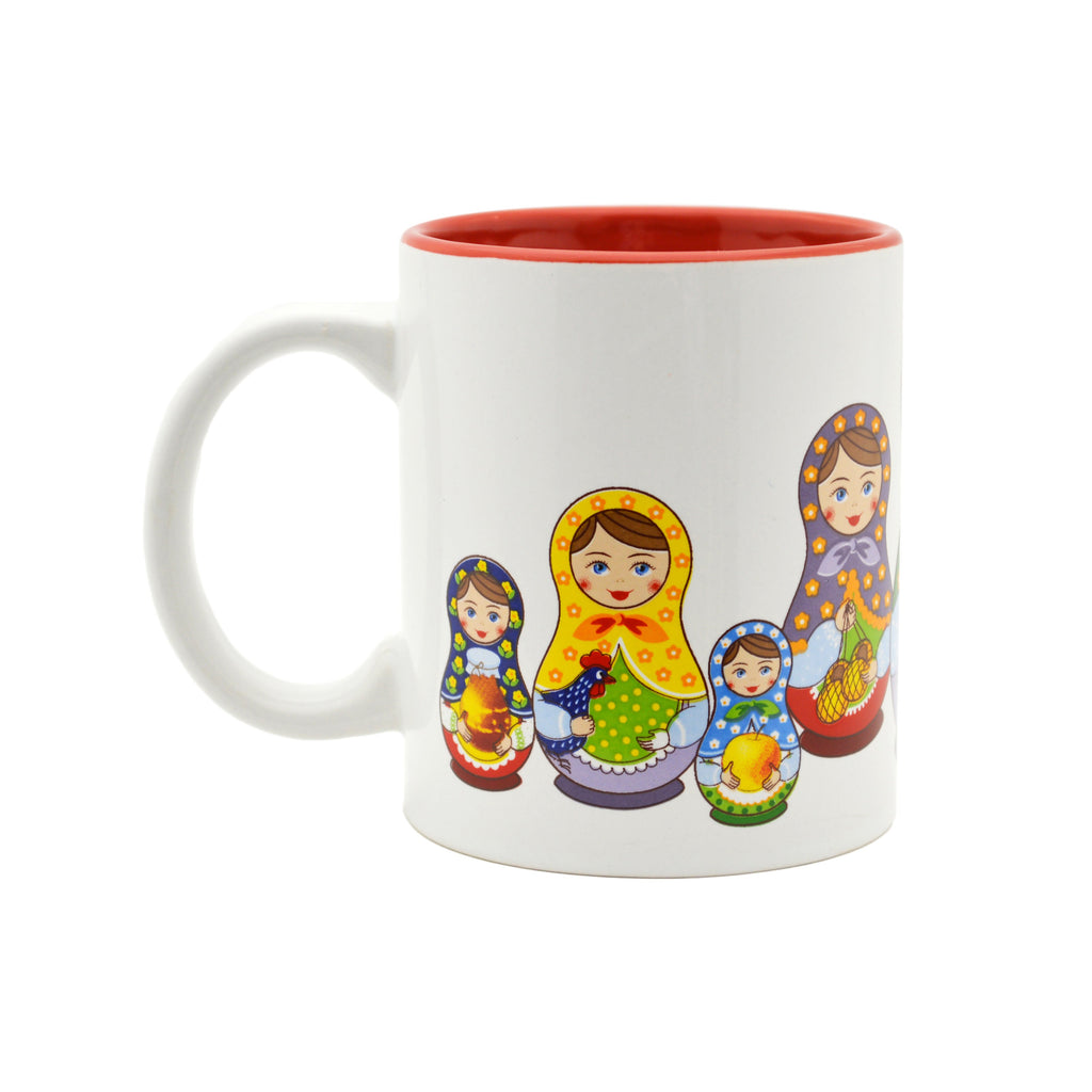 Ceramic Coffee Mug Russian Nesting Doll - Coffee Mugs, Nesting Doll, New Products, NP Upload, Russian, Under $10, Yr-2016 - 2