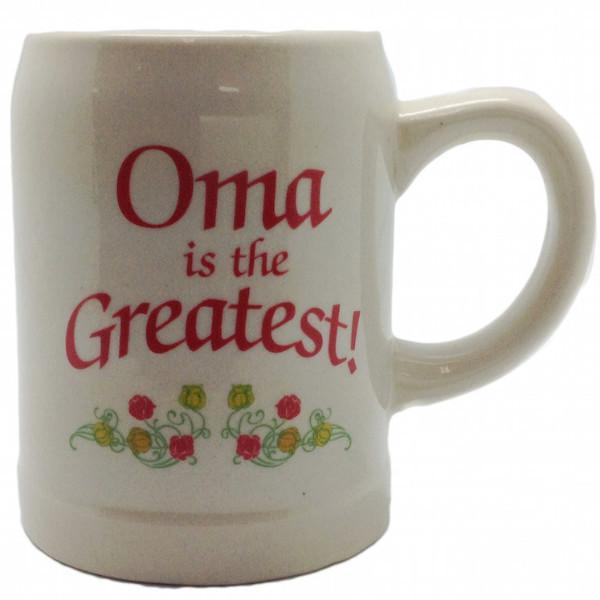 Gift for Oma German Coffee Mug:  inchesOma is the Greatest inches - Coffee Mugs, Coffee Mugs-Dutch, Coffee Mugs-Stoneware, CT-100, CT-102, CT-500, Drinkware, Dutch, German, Germany, Home & Garden, Oma, opa, SY: Oma is the Greatest, SY: Opa is the Greatest, Tableware