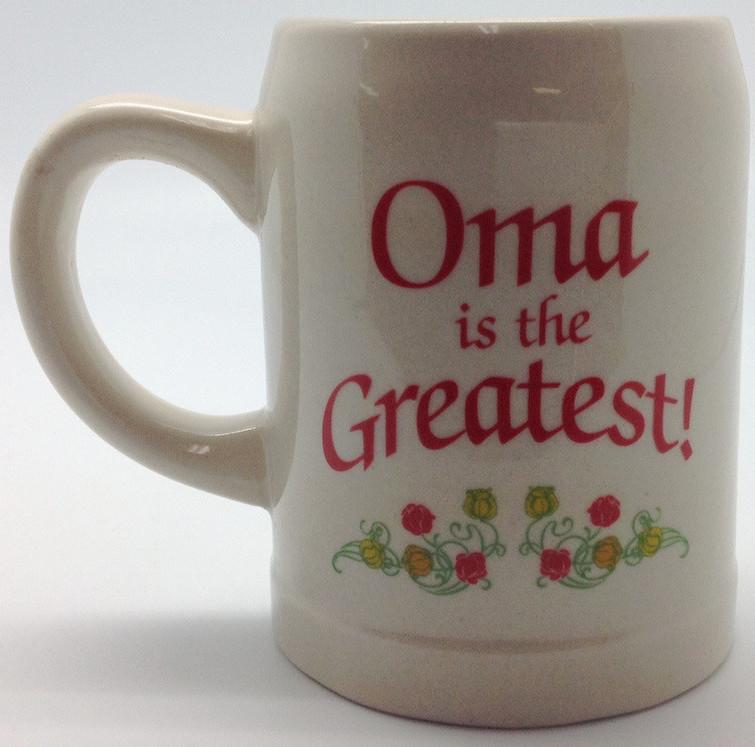 Gift for Oma German Coffee Mug:  inchesOma is the Greatest inches - Coffee Mugs, Coffee Mugs-Dutch, Coffee Mugs-Stoneware, CT-100, CT-102, CT-500, Drinkware, Dutch, German, Germany, Home & Garden, Oma, opa, SY: Oma is the Greatest, SY: Opa is the Greatest, Tableware - 2 - 3