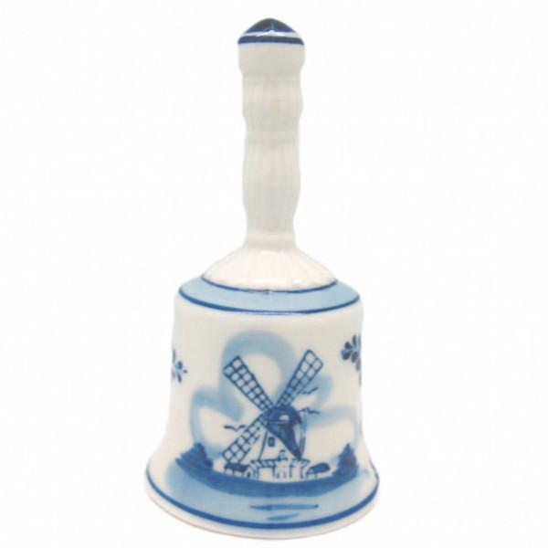 Bell with Fluted Handle - 4.35 inches, 5 inches, Bell, Collectibles, Delft Blue, Dutch, Home & Garden, PS-Party Favors, Size, Small, Top-DTCH-A