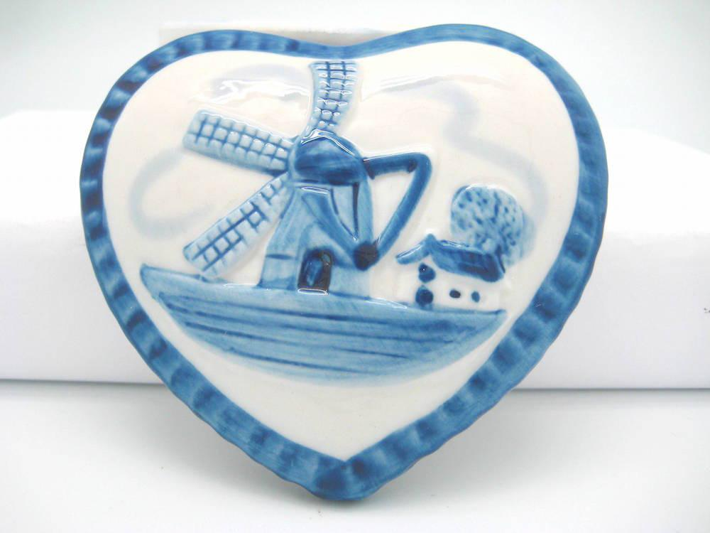 Delft Blue & White Ring Box Embossed Windmill Design - Delft Blue, Dutch, Home & Garden, Jewelry Holders, PS-Party Favors, Windmills - 2 - 3