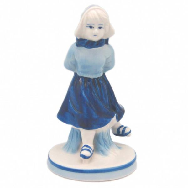 Delft Blue and White Figurine: Dutch Girl Skater - Collectibles, Delft Blue, Dutch, Figurines, Home & Garden, PS-Party Favors