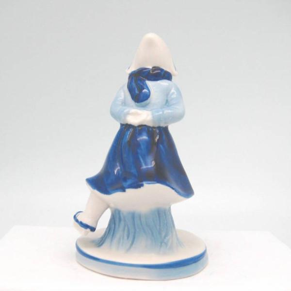Delft Blue and White Figurine: Dutch Girl Skater - Collectibles, Delft Blue, Dutch, Figurines, Home & Garden, PS-Party Favors - 2 - 3 - 4