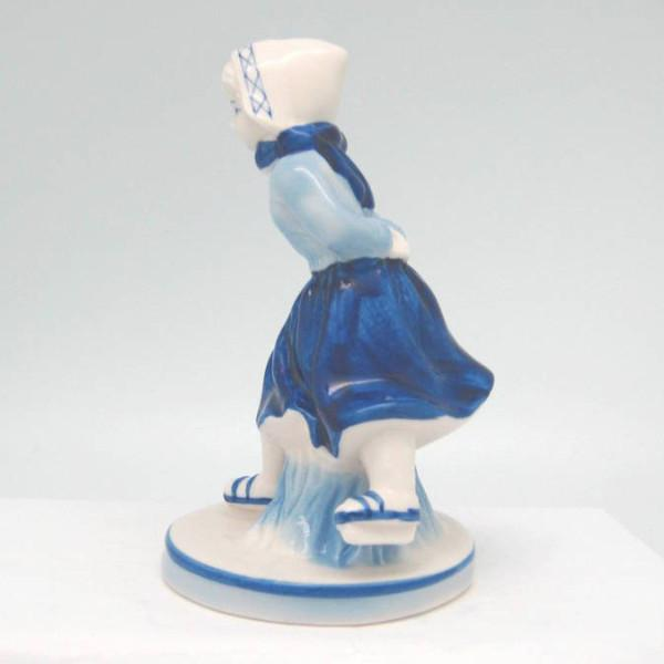 Delft Blue and White Figurine: Dutch Girl Skater - Collectibles, Delft Blue, Dutch, Figurines, Home & Garden, PS-Party Favors - 2 - 3