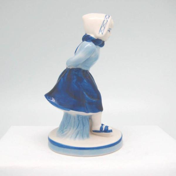 Delft Blue and White Figurine: Dutch Girl Skater - Collectibles, Delft Blue, Dutch, Figurines, Home & Garden, PS-Party Favors - 2