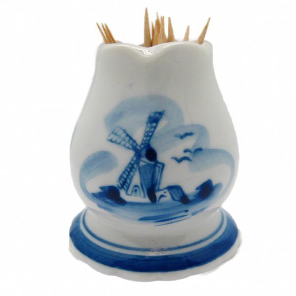 Delft Blue and White Toothpick Holder - Delft Blue, Dutch, Home & Garden, PS-Party Favors, PS-Party Favors Dutch