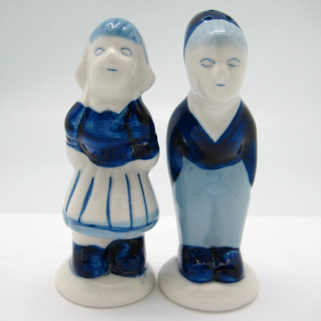 Collectible Pepper and Salt Shakers: Delft Kiss - Below $10, Collectibles, Dutch, Home & Garden, Kissing Couple, Kitchen Decorations, PS-Party Favors, PS-Party Favors Dutch, S&P Sets, Tableware, Under $10 - 2