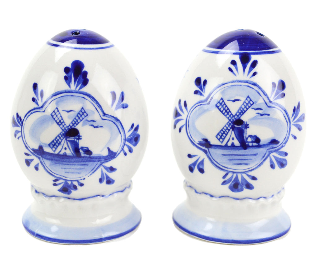 Ceramic Pepper and Salt Shakers: Egg Set - Below $10, Ceramics, Collectibles, Delft Blue, Dutch, Home & Garden, Kitchen Decorations, S&P Sets, Tableware, Under $10