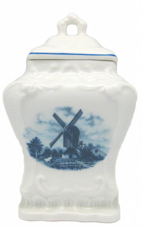 Delft Blue & White Ceramic Coffee Canister - Collectibles, Delft Blue, Dutch, Home & Garden