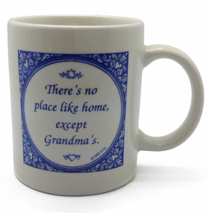 No Place Like Grandma's Ceramic Coffee Cup - Coffee Mugs, Collectibles, CT-100, CT-101, Drinkware, General Gift, Grandma, Home & Garden, SY: No Place Like Grandmas, Tableware