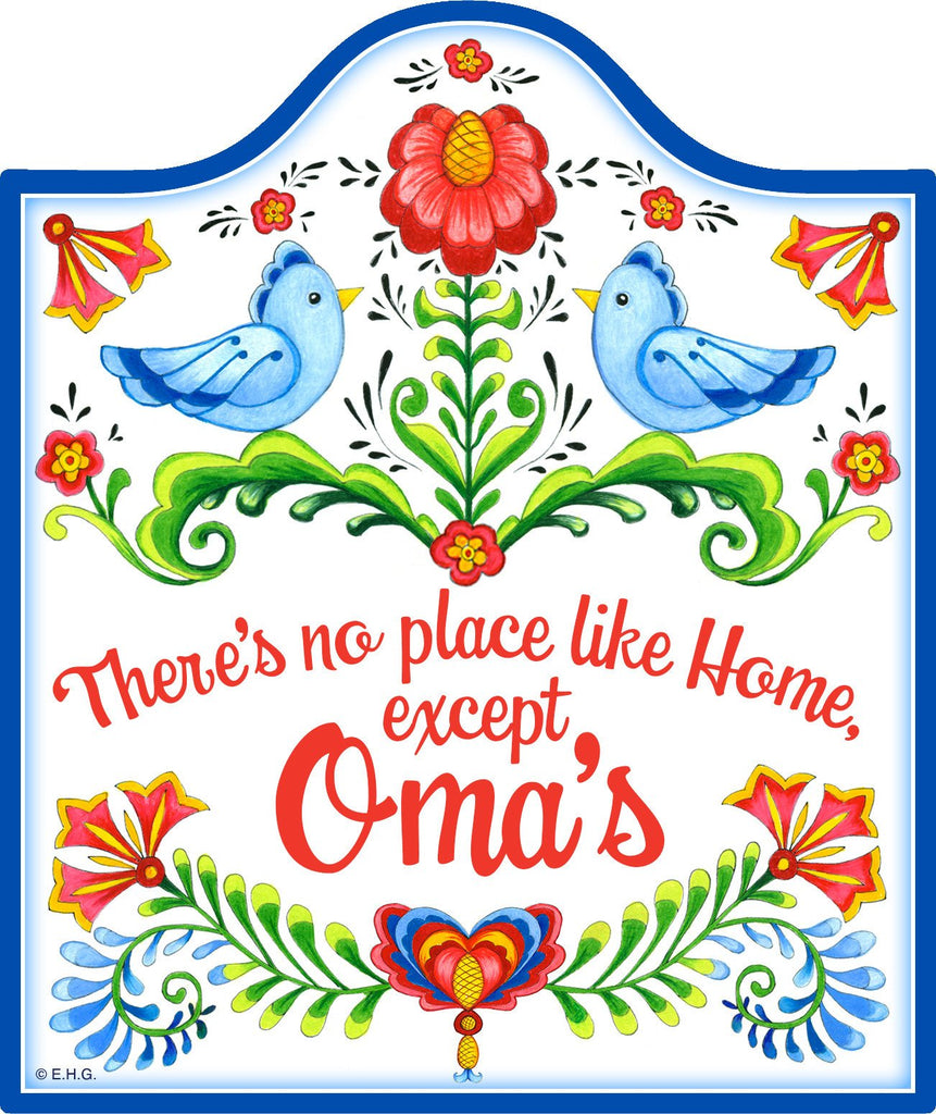 inchesNo Place Like Home Except Oma's inches Decorative Kitchen Trivet - Cheeseboards, CT-100, CT-102, CT-210, CT-220, Kitchen Decorations, New Products, NP Upload, Oma, Rosemaling, SY:, SY: No Place Like Omas, Under $10, Yr-2016