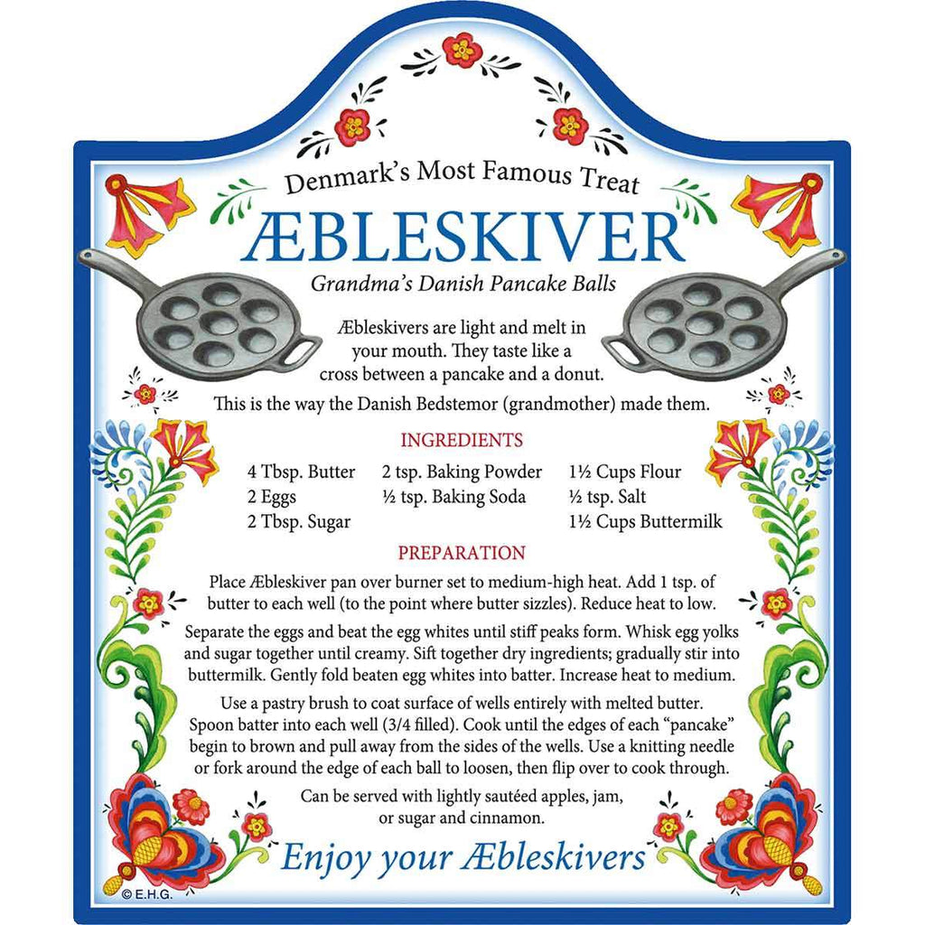 DT4905: CHEESEBOARD: RECIPE/AEBLESKIV