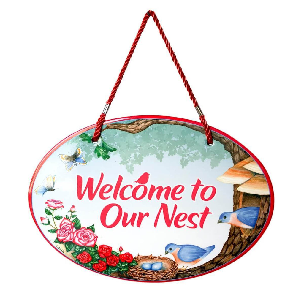 DT5562: DOOR SIGN:WELCOME TO OUR NEST