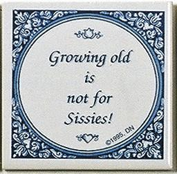 Inspirational Plaque: Growing Old Not.. - Below $10, Collectibles, General Gift, Home & Garden, Kitchen Decorations, SY: Growing Old, Tiles-Sayings, Under $10