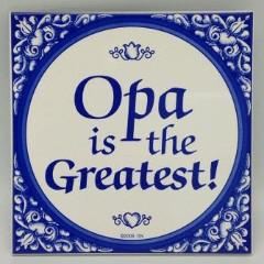 Gift For Opa: Opa The Greatest! Ceramic Tile - Below $10, Collectibles, CT-100, CT-102, CT-210, CT-220, Dutch, german, Germany, Home & Garden, Kitchen Decorations, Opa, SY: Opa is the Greatest, Tiles-German, Under $10