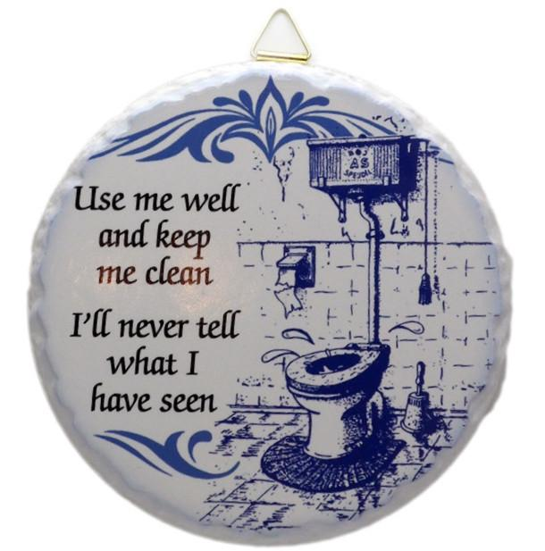 Round Ceramic Plaque: Use me Well - Collectibles, Dutch, General Gift, Home & Garden, Kitchen Decorations, SY: Use Me Well, Tiles-Sayings, Top-GNRL-A