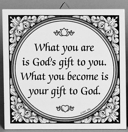 Inspirational Wall Plaque God's Gift - Below $10, Collectibles, General Gift, Home & Garden, Kitchen Decorations, SY: Gods Gift, Tiles-Sayings, Under $10