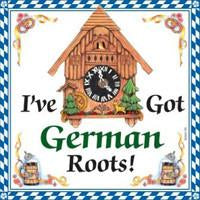 I Have Got German Roots Ceramic Wall Hanging Tile - Collectibles, CT-220, German, Germany, Home & Garden, Kitchen Decorations, PS-Party Favors German, SY: Roots German, Tiles-German, Under $10