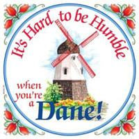 Kitchen Wall Plaques Humble Dane - Below $10, Collectibles, CT-205, Danish, Home & Garden, Kitchen Decorations, PS-Party Favors Danish, SY: Humble Being Danish, Tiles-Danish, Under $10