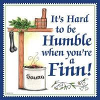 Kitchen Wall Plaques Humble Finn - Below $10, Collectibles, CT-215, Finnish, Home & Garden, Kitchen Decorations, PS-Party Favors Finnish, SY: Humble Being Finn, Tiles-Finnish, Top-FINN-B, Under $10