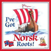 Kitchen Wall Plaques Norsk Roots - Below $10, Collectibles, CT-240, Home & Garden, Kitchen Decorations, Norwegian, PS-Party Favors Norsk, SY: Roots Norwegian, Tiles-Norwegian, Under $10