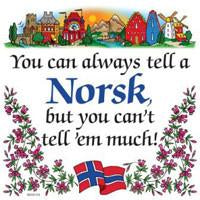 Kitchen Wall Plaques Tell A Norsk - Below $10, Collectibles, CT-240, Home & Garden, Kitchen Decorations, Norwegian, SY: Tell a Norwegian, Tiles-Norwegian, Under $10