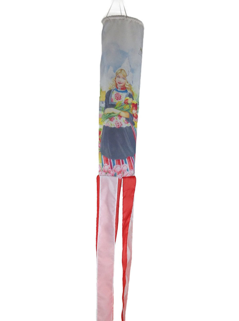 Holland Wind Sock Tulip Girl - Collectibles, Dutch, Hanging Decorations, Home & Garden, Tulips, Windsocks-Dutch
